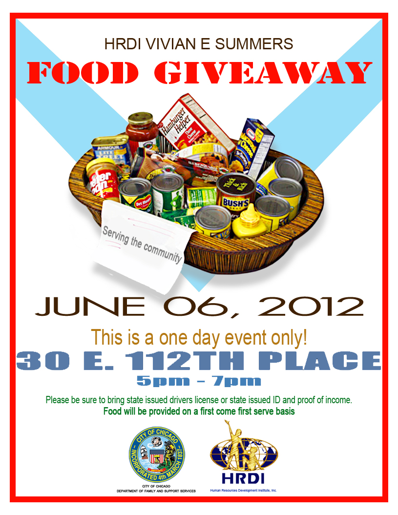 Christmas food giveaway flyer sample